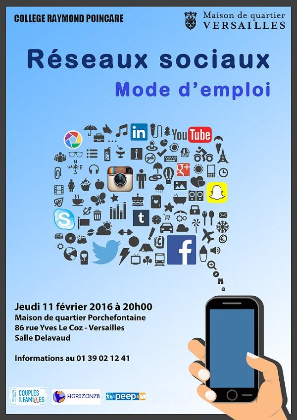Affiche Réseaux sociaux mode d'emploi